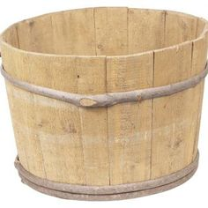 Decorative bark hiding the metal straps can add to the rustic appeal of your wooden tub.