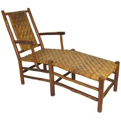 Shop chairs and other antique and modern chairs and seating from the world's best furniture dealers. Old Chairs, Antique Chairs, Rustic Furniture, Cool Furniture, Outdoor Furniture, Rustic Style, Rustic Decor, Pool Lounge Chairs, Old Hickory