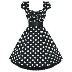 Black and white polka dot 50's style dress. Yes, please.