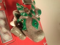Granite rock and green accents Dragnet by TheDragonsMark on Etsy