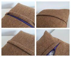 Pillowcase + zipper + piping tutorial