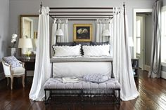 Wall color is Benjamin Moore 'Nightingale'  Current front runner for living space