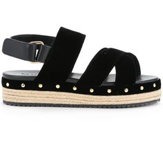 Muveil open toe criss-cross sandals (2.785 DKK) ❤ liked on Polyvore featuring shoes, sandals, flats, black, flat heel sandals, black sandals, black flat shoes, black open toe flats and black criss cross sandals