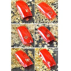 Evtech(tm) 90 Stück Nail Aufkleber Strass Kristall-Diamant-3D-Legierung Silber Goldene Fashion Art-Nagel-Kunst-Werkzeug-Carve-Nagel-Aufkleber-Dekoration-Aufkleber Glitter Tatoo (nicht die Nagel-Spitze) - http://on-line-kaufen.de/evtech/evtech-tm-90-stueck-nail-aufkleber-strass-diamant