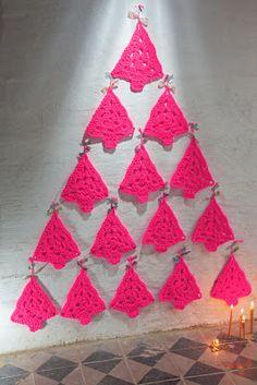 Bees and Appletrees (BLOG): neon kerstboompjes haken - crochet neon christmastrees