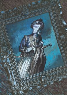 'El retrato'. Tintas y  gouache sobre cartulina. 500€  David Belmonte ©