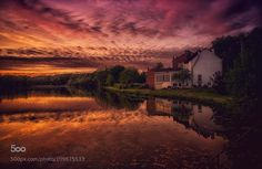 Sunset in Wallonia by matthiaslocker #photo