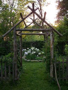 Cedar garden archway Gardening things Ive made Pinterest