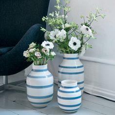 """Stor Omaggio vase """"Light Blue"""" - Unikt dansk design fra Kähler"""