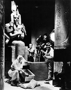 Boris Karloff and Karl Freund Mummy Candid Set Photo