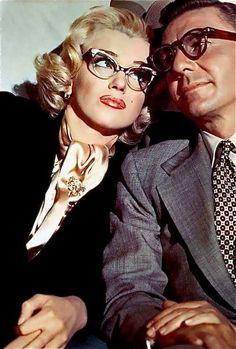 Lady Hollywood, missmonroes: Marilyn Monroe and David Wayne in. Old Hollywood Movies, Old Hollywood Glamour, Hollywood Stars, Classic Hollywood, Hollywood Cinema, Shady Lady, Marilyn Monroe Photos, Wearing Glasses, Norma Jeane
