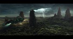 """Résultat de recherche d'images pour """"science fiction paysage"""""""