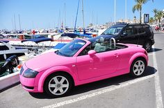 Adorable Pink Convertible