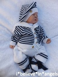 KNITTING PATTERN KSB 46***MATELOT***3 OR 4 PIECE SAILOR SET TO MAKE FOR YOUR BABY OR REBORN DOLL