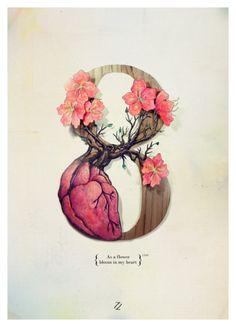 As a flower