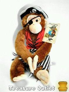 Fiesta Stuffed Plush Pirate Monkey Chimp