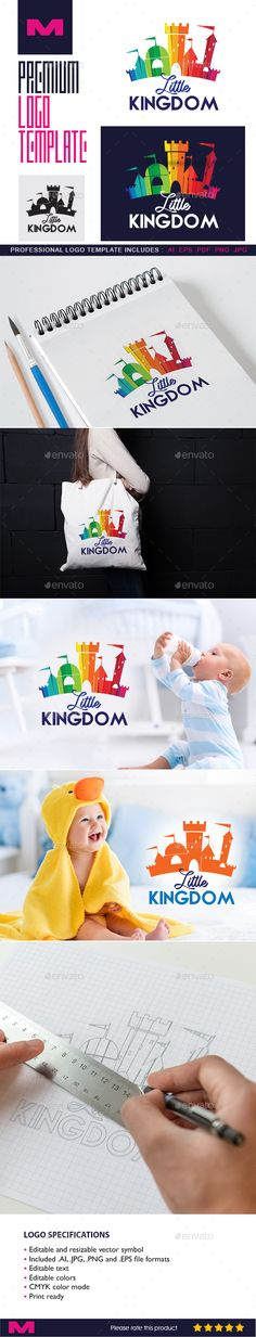 Little Kingdom - Logo Template for Baby Products, Kids Stores & Nursery Schools - Buildings Logo Templates