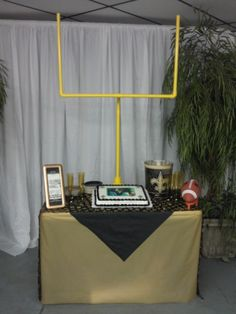 Groom's Cake Table. Love the idea. It just needs to be basketball related.