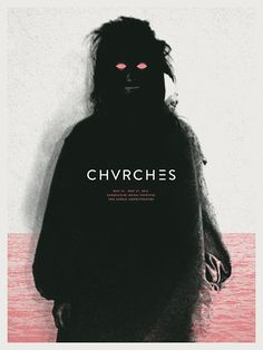 Screen printed poster for CHVRCHES at SASQUATCH! Music Festival.