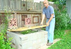 DIY Compost Bin - Cinder Blocks