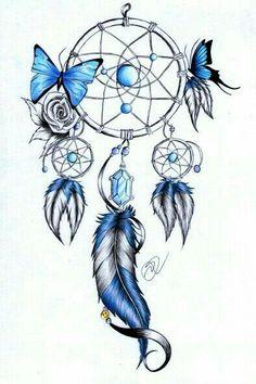 Atrapasueños mariposa azul
