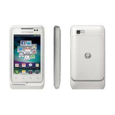 Smartphone Motorola XT303 Blanco Telcel R.9 *Hasta agotar existencias* Este smartphone equipado con Android Gingerbread incluye una función llamada Motoswitch, la cual reconoce tus canciones favoritas, los contactos con los que más conversas y las aplicaciones que más utilizas. Su pantalla es de 3.2 pulgadas y tiene cámara de 2 megapixeles