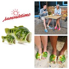 The Slippers That Will Make You Be the Focus of the Crowd. #cool slippers #fish slippers #funny slippers #flip fop sandals