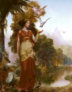 Demeter, goddess of wheat, fertility, agriculture and mother of Persephone.
