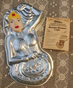 Vintage Wilton Wonder Woman Cake Pan Metal Baking Pan Kitchen Collectible