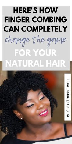 There is much to learn about when it come to natural hair for black women but one of the most important things you should consider doing to your hair is finger combing. You can find out exactly how to do it here! Natural Hair Regimen, Natural Hair Care Tips, Natural Hair Growth, Natural Hair Styles, Salon Hair Treatments, Long Natural Curls, Hair Meaning, Curly Hair Types, Finger