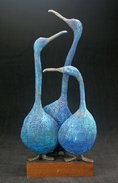 Gallery – Josefine Art – Famous Last Words Paper Mache Sculpture, Bird Sculpture, Pottery Sculpture, Animal Sculptures, Pottery Art, Ceramic Pottery, Slab Pottery, Ceramic Sculptures, Pottery Wheel