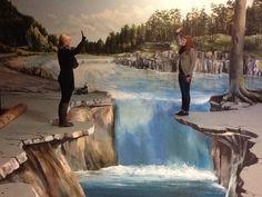 A waterfall in Gregor Wosik's studio.