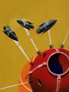 HOWARD V. BROWN (American, Astounding Stories pulp cover, October 1937 Oil on canvas x in. - Available at 2012 June Illustration. Science Fiction Art, Pulp Fiction, Flying Saucer, Illustrations, Space Illustration, Retro Futurism, Sci Fi Art, Vintage Posters, Rockets