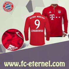 fc-eternel:Maillot Bayern Munich Manche Longue LEWANDOWSKI 9 Domicile 16/17 Maillot Bayern Munich, Lewandowski, Football, Sweatshirts, Sports, Sweaters, Tops, Baby Born, Long Dress Patterns