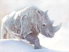 Rhino  handmade sculpture by DemiurgusDreams on Etsy