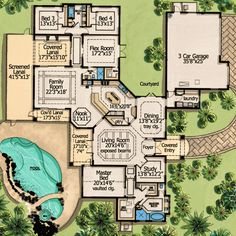One Level Living With Courtyard - 31805DN floor plan - Main Level