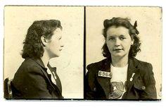 . Mug Shots, Public Health, Mugs, Photography, 1940s, Vintage, Health Recipes, Bad Girls, Crime