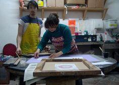 Screen Printing Workshop 2012 Butcher Block Cutting Board, Screen Printing, Workshop, Prints, Atelier, Screenprinting