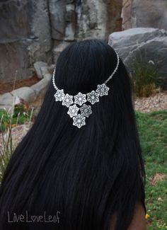 Silver Chain headband, Filigree Halo headpiece, Wiccan hair piece, Circlet, Wedding head band, hair accessory, accessories, head jewelry