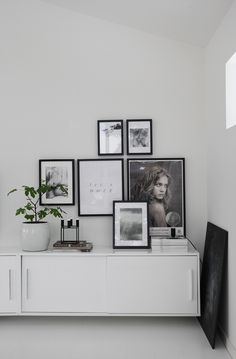 monochrome picture wall