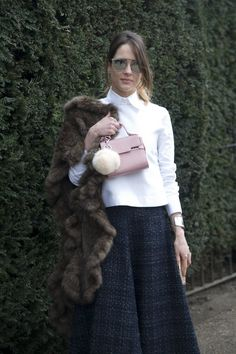 Pin for Later: Everyone Saved the Best Accessories For Last at MFW LFW Day Four Dior sunglasses and a Delvaux bag