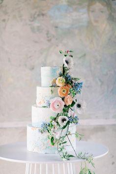 Black Wedding Cakes, Floral Wedding Cakes, Elegant Wedding Cakes, Elegant Cakes, Beautiful Wedding Cakes, Wedding Cake Designs, Garden Wedding Cakes, Cake Wedding, Floral Cake