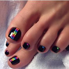 27 Adorable Easy Toe Nail Designs 2020 – Simple Toenail Art Designs : Page 8 of 25 : Creative Vision Design – Nail Art Ideas 2020 Simple Toe Nails, Pretty Toe Nails, Cute Toe Nails, Gorgeous Nails, My Nails, Hair And Nails, Cute Toes, Toe Nail Color, Toe Nail Art