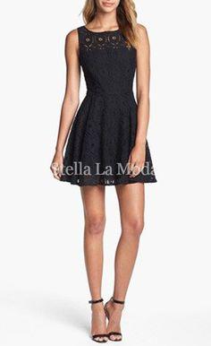 Little Black Skater Dress $32.99