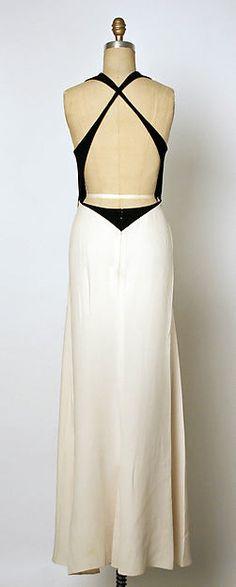 Evening dress, silk, double face wool, back detail. S/S 1992 Geoffrey Beene