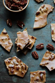 A delicious, sweet and buttery homemade brittle that is loaded with pecans and a hint of cinnamon