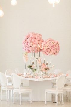 Pink Hydrangea Centerpieces, Pink Hydrangea Wedding, Wedding Flowers, Wedding Arrangements, Wedding Bouquets, Flower Ball, Event Company, Wedding Table, Pink Flowers