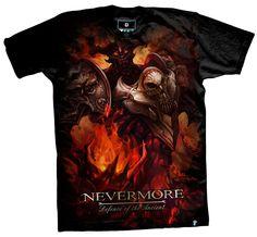 3D DOTA Black Nevermore T-shirts For Man