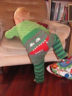 Monster Bum Pants Free Knitting Pattern