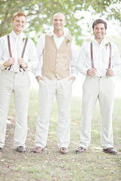 vintage groom and groomsmen